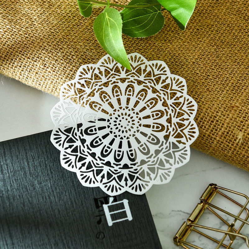 KSCRAFT White Lace Paper Doilies/Placemats for Wedding Party Decoration Supplies Scrapbooking Paper Crafts 5