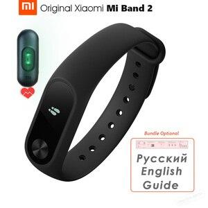 Image 1 - Original Xiaomi Mi Band 2 스마트 블루투스 팔찌 피트니스 팔찌 Miband 2 OLED 스크린 터치 패드 심박수 펄스 IP67