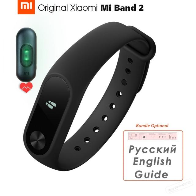 Original Xiaomi Mi Band 2 스마트 블루투스 팔찌 피트니스 팔찌 Miband 2 OLED 스크린 터치 패드 심박수 펄스 IP67