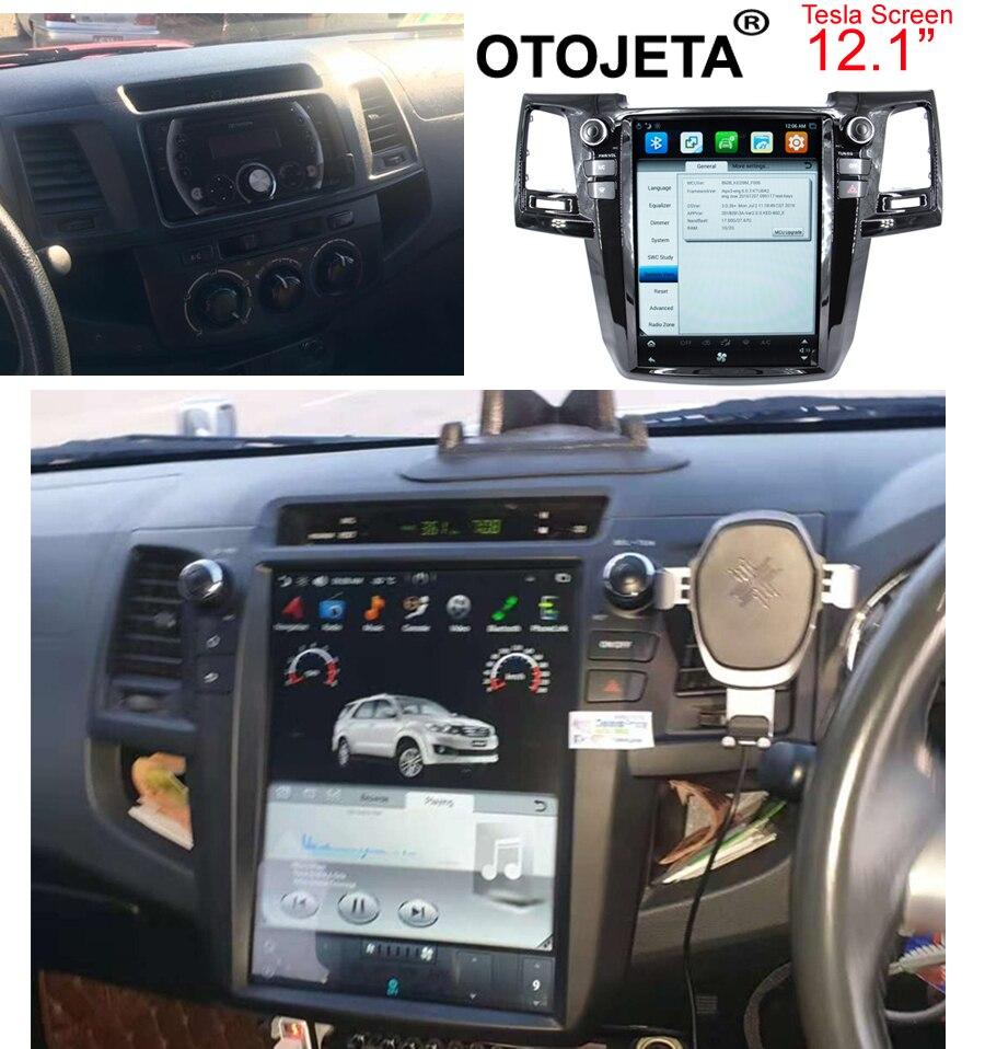 Otojeta vertical screen tesla head units quad core Android 7.1 Car Multimedia GPS Radio player for Toyota Fortuner/Revo/hilux 15