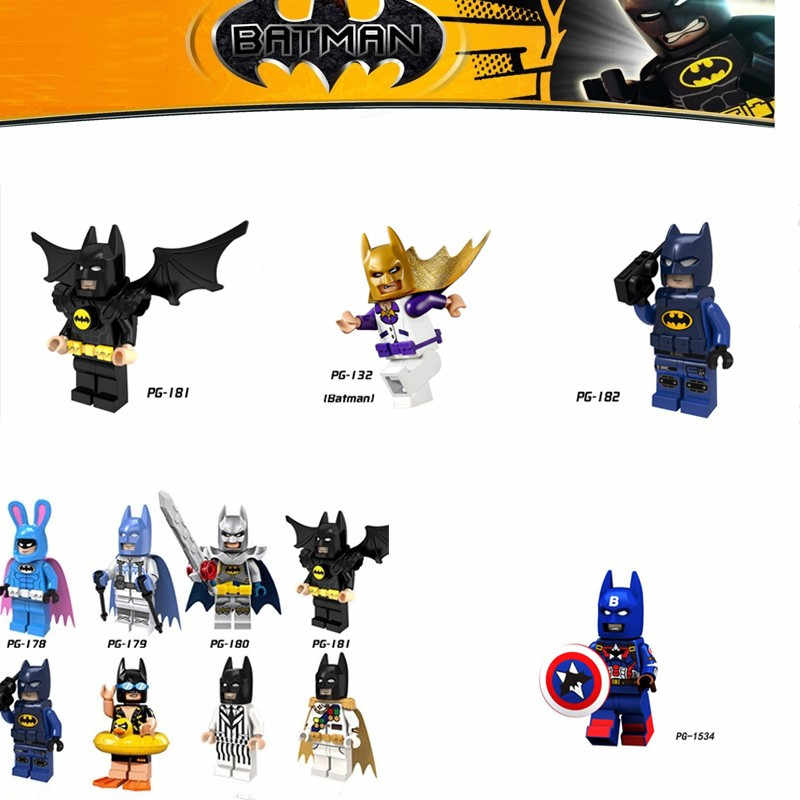 LEGOing Super Heroes Series Batman Movie Figures Action Model Building Blocks Toys For Children