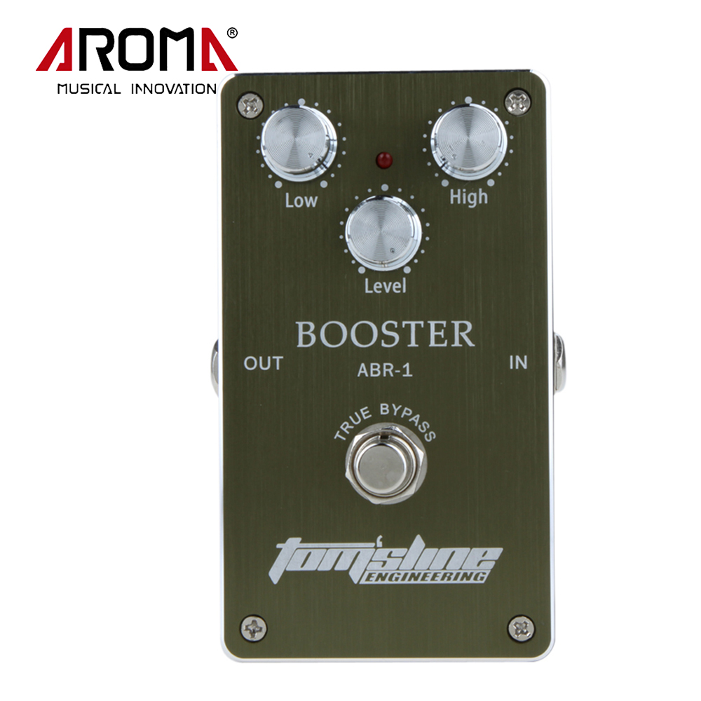 ФОТО New Arrivel Guitar Effects Booster Guitar Effect Pedal Aluminum Alloy Housing Ture Bypass Aroma ABR-1