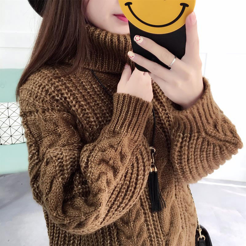 Autumn 2019 O-neck Winter Women Sweaters Pullovers Casual Solid Waves Jumper Knitted Female Loose Winter Sweaters Women Coat