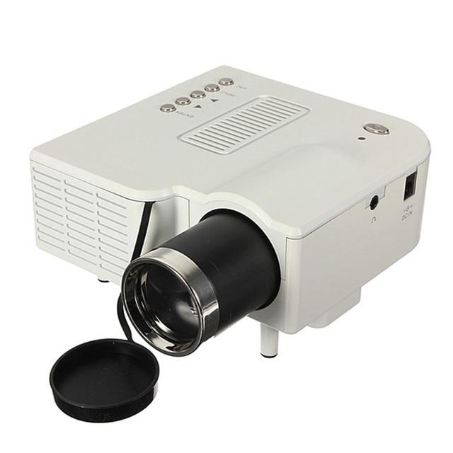 New Arrival High Quality UC28+ Projector Mini HD Multimedia LED Projector Home Cinema HD 1080P Support AV VGA SD USB HDMI