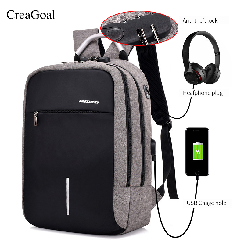 Fashion USB Charge Anti Theft Backpack for Men 15 inch Laptop Mens Backpacks Travel duffel School Bags Bagpack sac a dos mochila new 3d printing backpack men leather school backpack big rivet wolf bagpack for teens mochila laptop backpacks male sac a dos