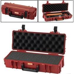40x16x9,5 cm caja de instrumentos de seguridad portátil caja de herramientas de plástico caja de protección al aire libre con forro de espuma precortada