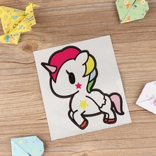 New 1 PC Unicorn Sticker Multi-Color Unicorn Fashion Car Stickers Waterproof Cartoon Horse Home Car Decals