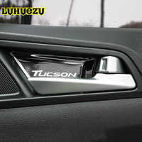 Stainless Steel Material Interior Door Handle Bowel Protective Cover For Hyundai Tucson 2015 2016 2017 2018 Accessories