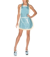 Women's Latex full-length traditional style latex apron Latex Frilly Apron