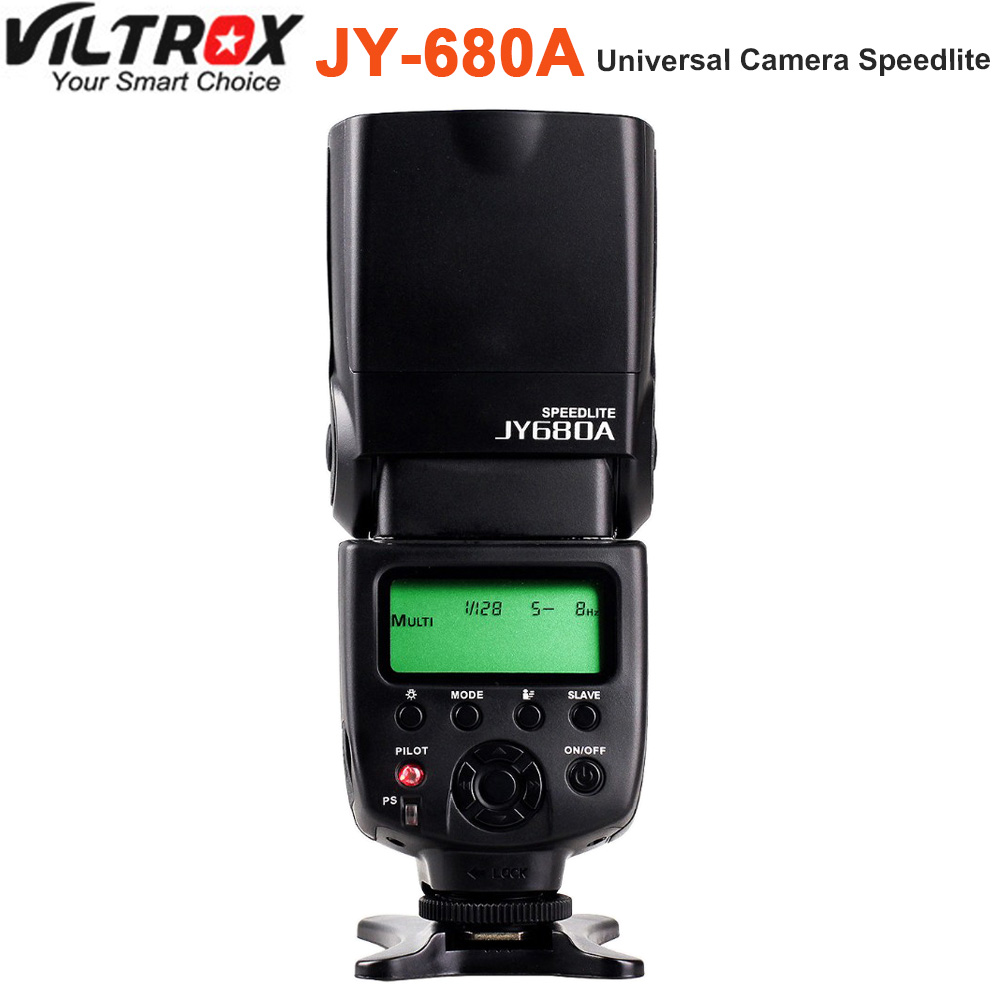 VILTROX JY-680A JY680A Universal Camera LCD Flash Speedlite for Canon Nikon Pentax Olympus Fujifilm DSLR pixel m8 wireless universal speedlight flash light gn60 for canon nikon sony pentax fujifilm lumix dslr camera vs jy680a yn560iv