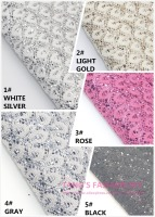 10PCS NEW STYLE 20X22CM High Quality DIY PU Lace Glittle Leather Per Pcs 5 Colors Can