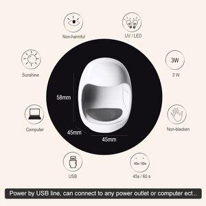 Image 2 - ביצת צורת 3W UV LED מנורת עבור אחת ציפורן אצבע מנורת מסמר ג ל פולני מייבש ייבוש מכונה חכם חיישן 45s / 60s USB מחבר