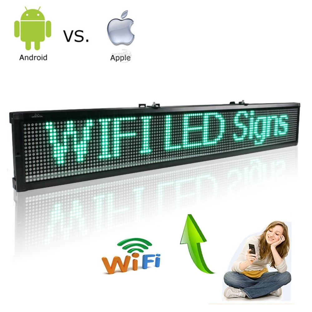 101CM-Wifi-Remote-Control-Programmable-Scrolling-Message-Led-display-Board-for-Business-and-Store-Green-text