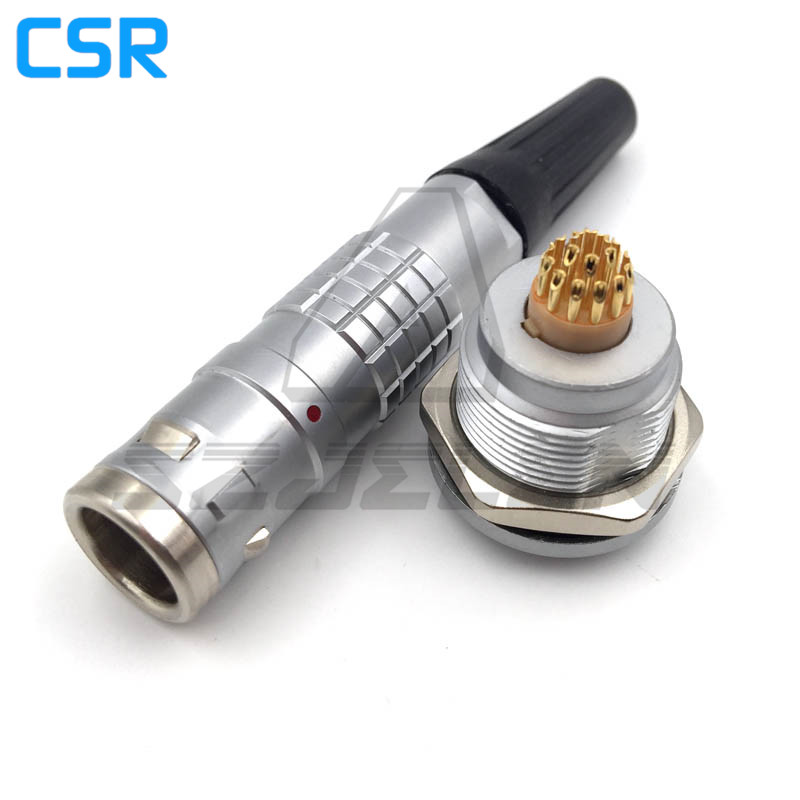 Lemo Connector 18 pins,FGG.1K.318 /EGG.1K.318.CLL, Waterproof metal round cable 18-pin connector, medical equipment plug socket connector 6469294 1 connector