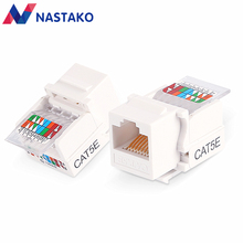 nastako 2050pcs cat5 rj45 cat5e utp keystone female jack connector adapter for wall plate wisted rj45 network ethernet cable