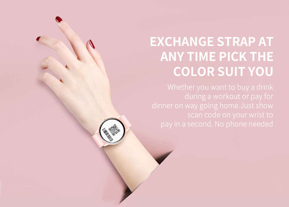 Women IP68 Waterproof Smart Watch for iPhone xiaomi LG with Bluetooth and Heart Rate Monitor Fitness Tracker 18