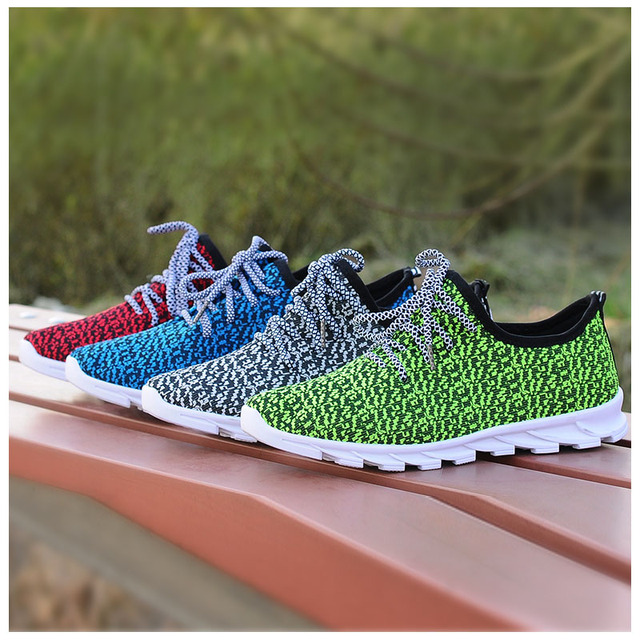 2017 New Men s Sneakers Shoes Summer Platform Run Shoes Breathable Beach  Running Shoes For Men Size 39-44 9ca2a1e6b