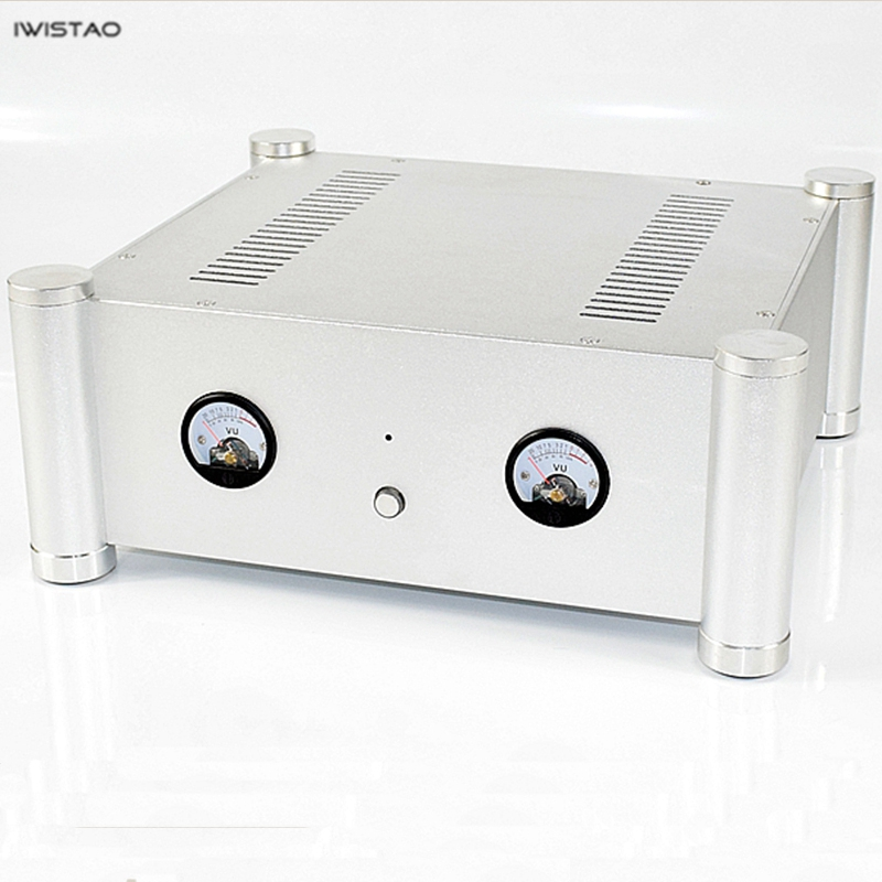 IWISTAO HIFI Tube Amplifier Casing 315* 355 * 145mm Whole Aluminum Including VU Meter Sliver double star мужские спортивные шорты из хлопка