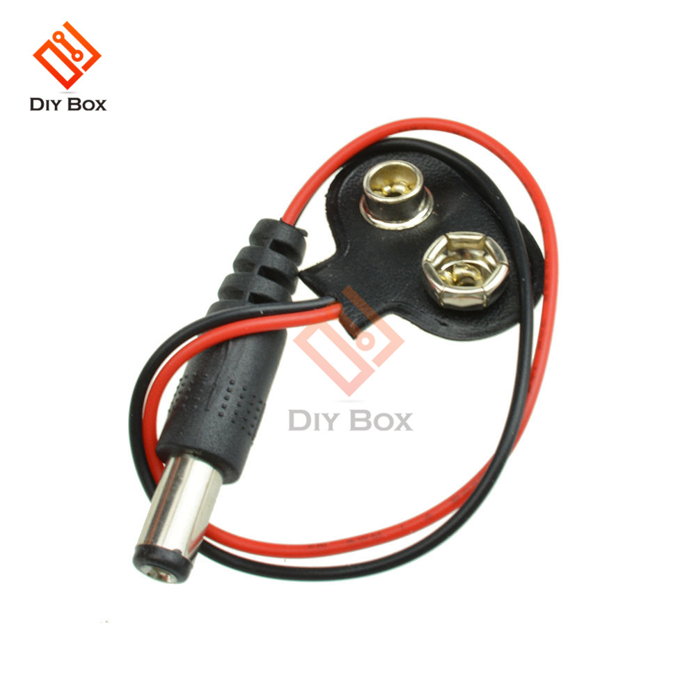 5PCS T type 9V DC Battery Power Cable Barrel Jack Connector for Arduino New