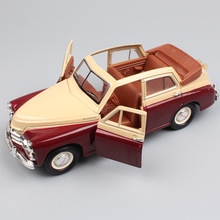 1/24 Scale USSR Soviet Vintage Gaz M20 Gaz-M20 Pobeda diecast vehicles & cars roadster models auto toys thumbnails for children