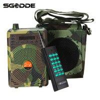 SGODDE Handy Camouflage 48W Hunting Decoys Speaker Bird Caller Predator Sound MP3 Player With Remote Control