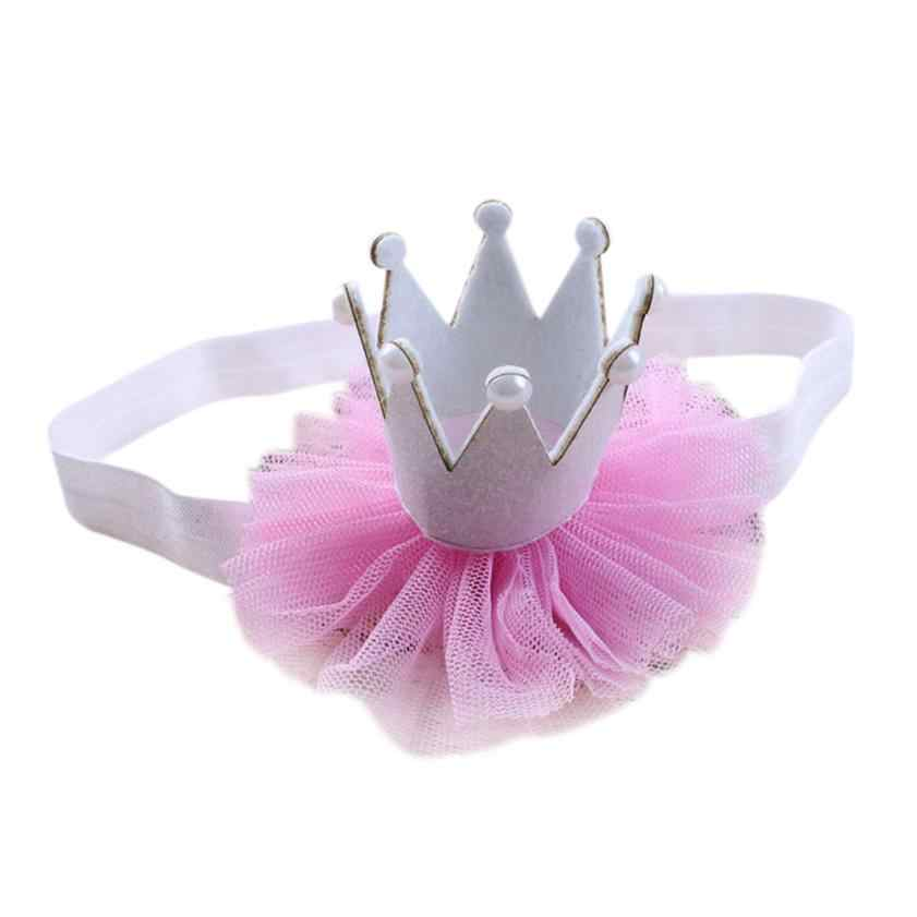 1pcs Hot selling  Girl Head Accessories Hairband Baby Elastic Flower Crown Headwear diademas pelo