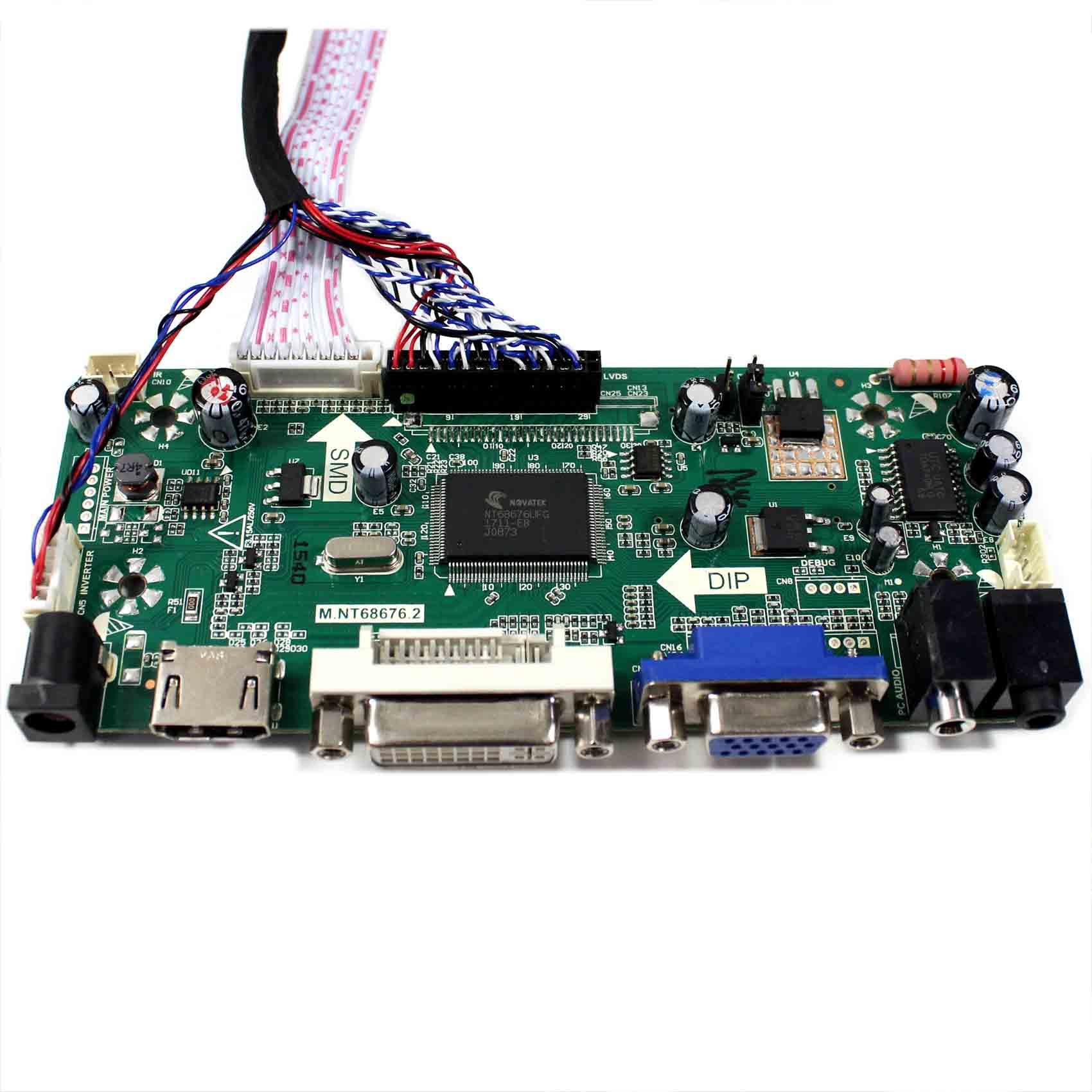 HDMI//DVI//VGA LCD LVDS Converter Board Kit LED Driver for 1600X900 M195RTN01.0