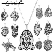 цены Cxwind Fashion Charm Dog Tag Pendant Necklace Women Statement Necklaces for Pet Puppy Jewelry Drop Shipping