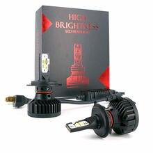 Автомобилей лампочки светодио дный H4 H7 H11 H8 H9 9005 9006 5202 фары 12 В 9000LM 90 Вт XHP70 XHP50 супер яркий фар Туман лампа для авто