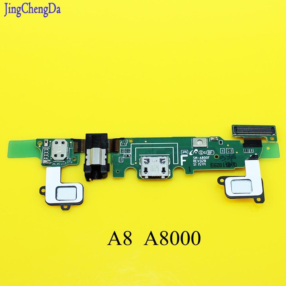 Jing Cheng да для Samsung Galaxy A8 A8000 a800f зарядки гибкий кабель наушников Audio Jack USB Порты и разъёмы Док шлейф