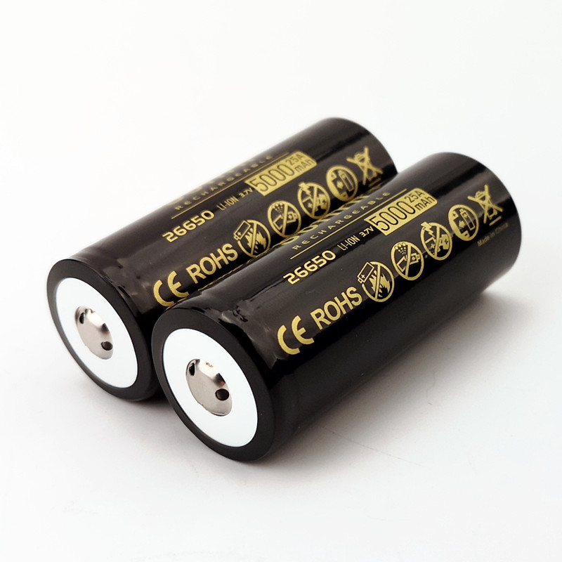 Sofirn High Drain 26650 Battery 5000mAh 25A Discharge Power 5C 3.7V Rechargeable Batteries High Capacity Lithium Battery