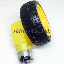 TT Мотор 130 мотор с колесом умный автомобиль робот мотор-редуктор для Arduino DC3V-6V DC мотор-редуктор 1 шт. TT Мотор+ 1 шт. 65 мм колесо