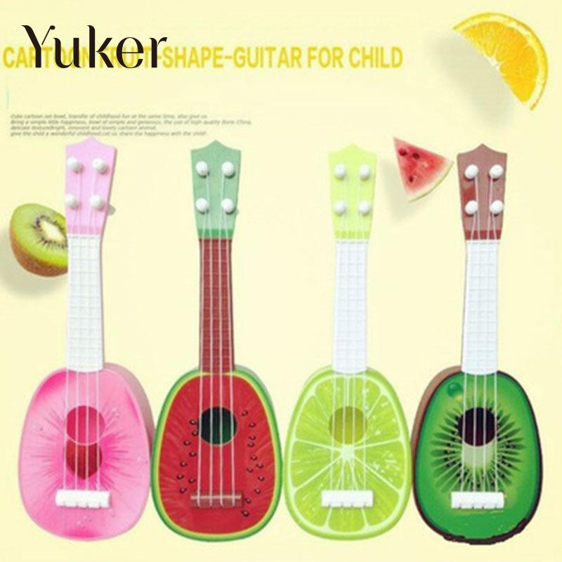 Mini Guitar String Instruments Musical Ukulele Cute 8 Style Kids Fruit Guitar Creative Gift Box Toy Ukelele Baby Play Violao