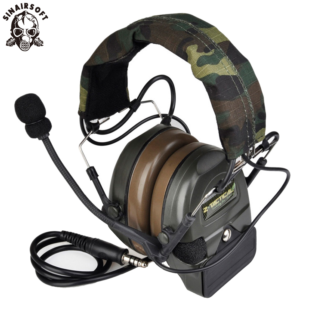 Z-tactical Sordin Tactical Headsets Airsoft Comtac ZComtac I Headset Style Tactical Headset Helmet Noise Canceling Headphone Ptt