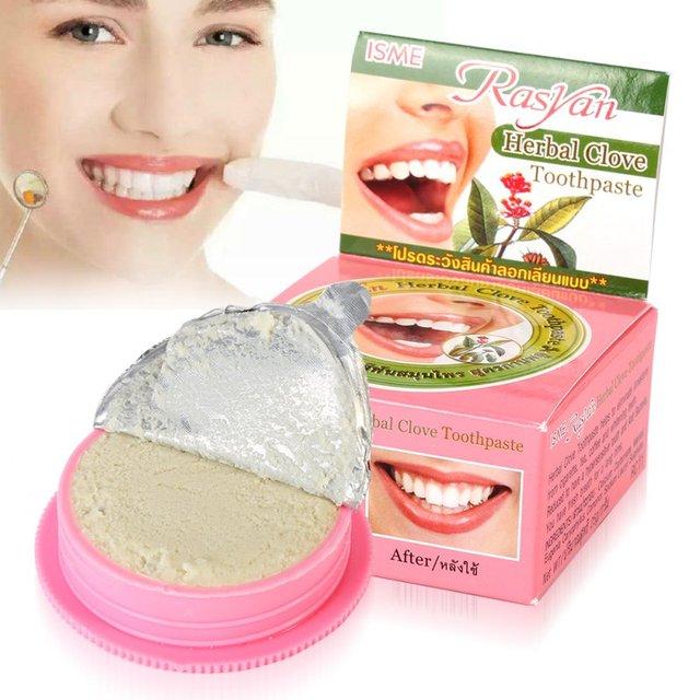 De pasta de dientes Dentifrice hierba dientes blanqueamiento Natural increíble tailandés pasta de dientes blanqueamiento de dientes diente en polvo