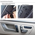 1set6pcs Chrome Seat Adjustment Button Switch Cover For Mercedes Benzz C117 X156 CLA180 200 CLA250 A180 B200B250 GLA200 GLA250