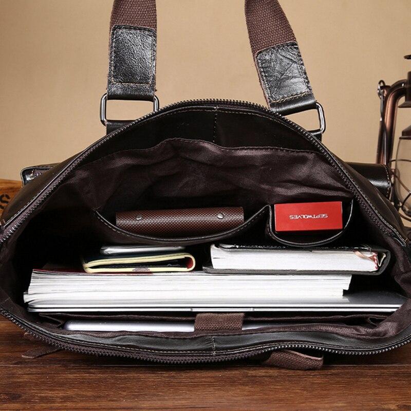 bolsa de couro genuíno sacolas Item Name : Men Messenger Bags