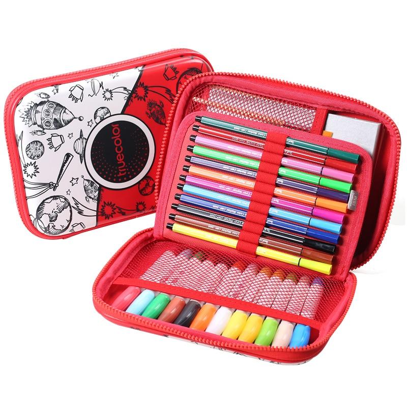 Véritable couleur stylo jeu de dessin enfants aquarelle stylo sûr non toxique eau couleur crayon environnement TZ2889