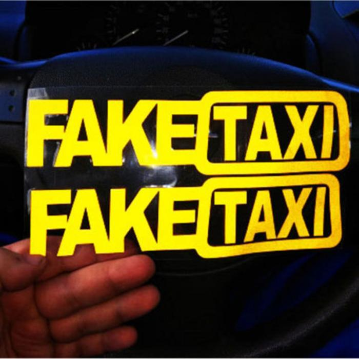 Exterior Accessories 2pcs Fake Taxi Car Sticker Decal Emblem Self Adhesive Vinyl Stickers For Car Van M8617 Car Stickers
