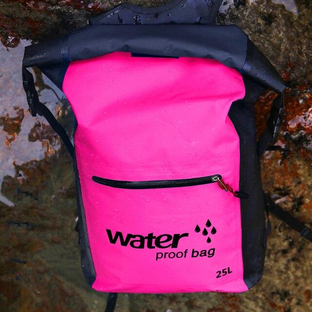 25L Outdoor Waterproof Dry Bag Backpack Sack Storage Bag Rafting Sports Kayaking Canoeing Swimming Bags Travel Kits Backpacks 5