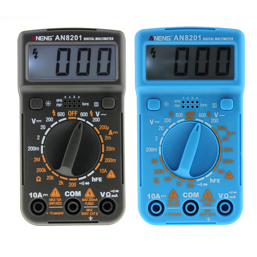 Portable 1999 Counts Multimeter AC/DC Ammeter Voltmeter Tester Pocket Mini KJ86A LCD Digital Multimeter