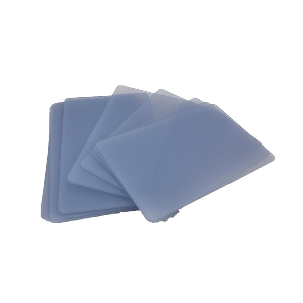 Blank transparent inkjet pvc card inkjet printable pvc card printed by Epson or Canon inkjet printers