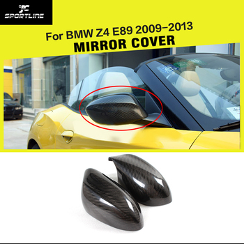 Carbon Fiber Car Side Rearview Mirror Covers Add On Style Caps for BMW Z4 E89 20i 28i 35i 30i 2009 - 2013 image