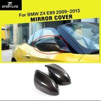 Tampas de espelho retrovisor lateral do carro fibra de carbono adicionar em estilo tampas para bmw z4 e89 20i 28i 35i 30i 2009 2013|rearview mirror cover|car mirror cover|carbon fiber mirror cover -