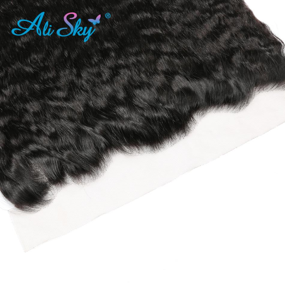 Hair Extensions & Wigs Closures Latest Collection Of 13x4 Ear To Ear Brazilian Kinky Straight Lace Frontal Pre Plucked With Baby Hair 100% Human Hair Non Remy Ali Sky Color 1b