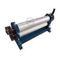 무료 배송 74 × 250mm 수동 밀랍 빗 재단 롤러 밀 엠보싱 기계 양봉