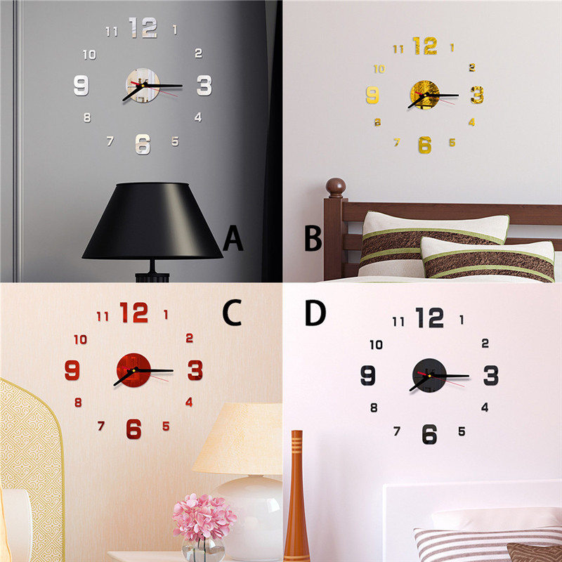 Watch Decorative-Clocks Acrylic-Stickers Living-Room Large Modern-Design Europe New