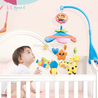 NextX Electric Musical Mobile Baby Cot Bed Bell with Soft Colorful Plush Dolls For Crib Lullabies Rotating music Toy