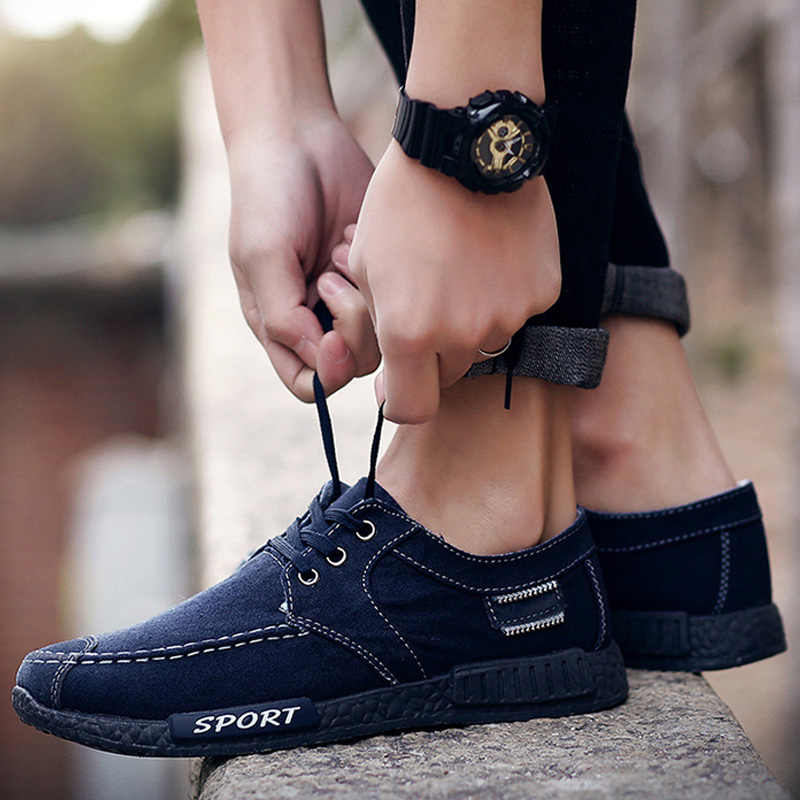 Модная Джинсовая Мужская обувь для взрослых, мужская повседневная обувь, мужская обувь, уличная парусиновая обувь, мужские эспадрильи, удобные мужские кроссовки