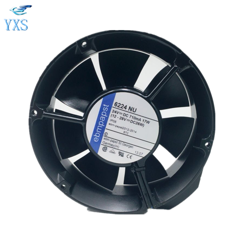 6224NU DC 24V 18W 17251 17CM 172*172*51mm 6224NU-221 Double Ball Frequency Cooling Fan delta new efb1548vhg 17251 17cm 48v 0 83a circular drive cooling fan for 172 172 51mm